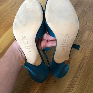 SJP by Sarah Jessica Parker Shoes - SJP Heels in Teal Satin